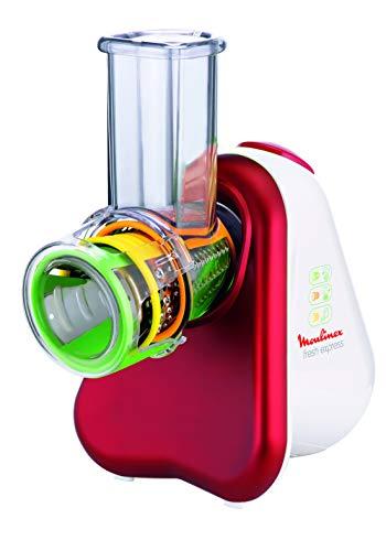 Moulinex Fresh Express Picadora Eléctrica 3 Funciones, 150 W, Acero Inoxidable, Plástico, Rojo/Blanco